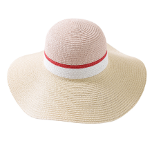 Customized for Real Straw Hat Wide Brimmed Color Blending Design Paper Straw Hat supply to Latvia Manufacturer