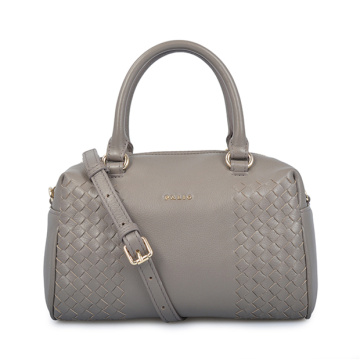 Boston Bag Large Grey Leather Handbags For Her