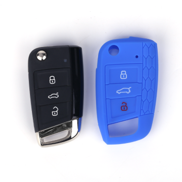 Fashion Silicone Car Key Cover för VW Golf7