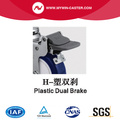 Chrome 5 Inch 90Kg Plate Brake PU Caster