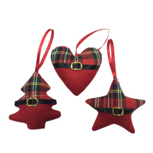 Christmas Tree Heart and Star hanging decoration