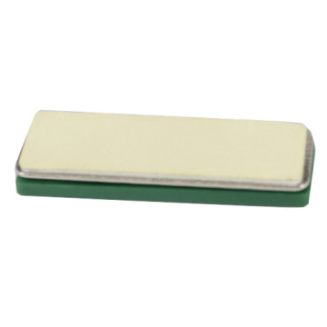 Green Neodymium Magnetic Name Tag