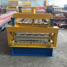 Corrugated glazed tile double decker roll forming machine
