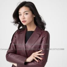 Factory source for Genuine Leather Coats,Womens Leather Coats,Leather Trench Coat Manufacturers and Suppliers in China Women's Sheepskin Coat European Designers export to South Korea Manufacturer