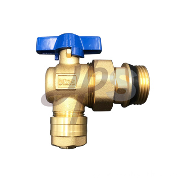 brass ball valve angle type with union