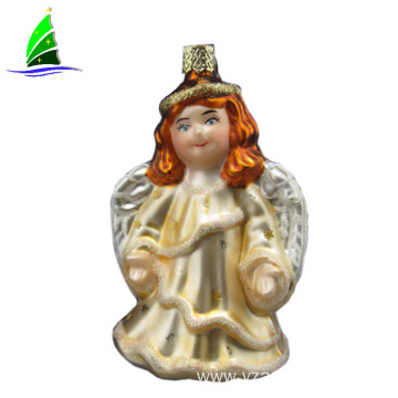 angel ornament glass angel figurine with wing