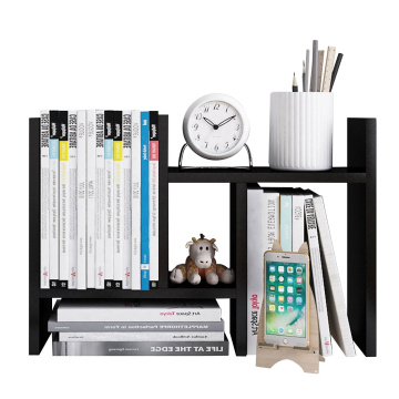 Desktop Organizer Office Storage Rack Adjustable Wood Display Shelf - Free Style Double H Display - True Natural Stand Shelf