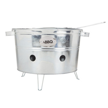 Manual BBQ Outdoor Heating Camping Stove Galvanized