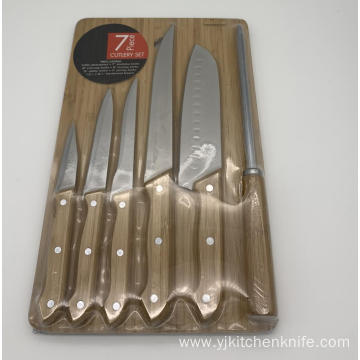 7pcs Kitchen Knife Board Set