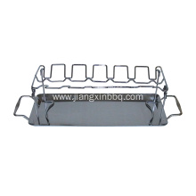 Barbecue Leg And Wing Grill Rack For Poultry