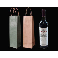 Custom luxury printed paper wine bottle gift bag