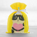 Yellow Cat Series Non-Woven Birthday Drawstring Gift Bag