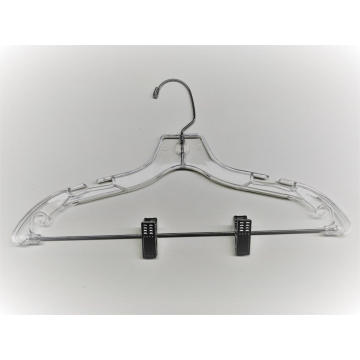 EISHO Transparent Plastic Hanger With Clips