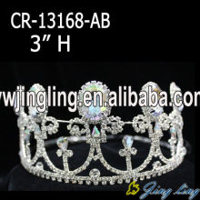 light Blue Rhinestone Cheap Queen Tiara
