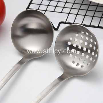 Stainless Steel Long Handle Spoon Colander Kitchenware