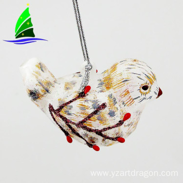 Wholesale Glass a Hanging Bird Ornaments for Decoration