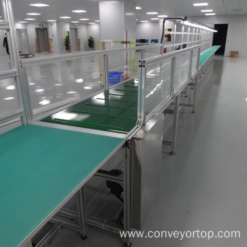 PVC Belt Conveyor Line with Working Bench