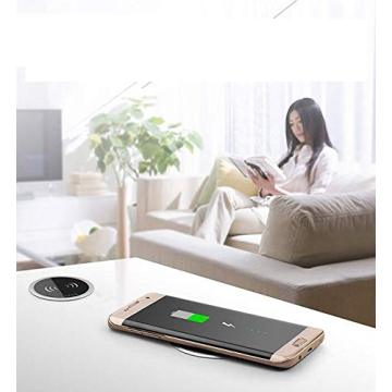 Desktop 10W Smart Wireless Charging Pad for iphone/for Samsung