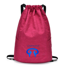 Customized large capacity drawstring bag travel backpack