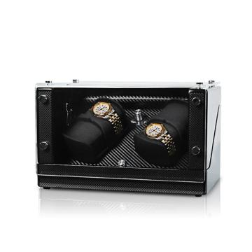 acrylic two rotors watch winder