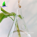 Handmade Cone Shape glass hydroponic vase