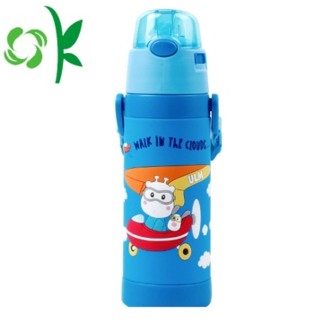 3D SIlicone Cartoon Sleeve Children Drinking Bottle Sleeve