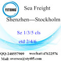 Shenzhen Port LCL Consolidation To Stockholm