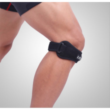 Knee bracing belt with silica gel