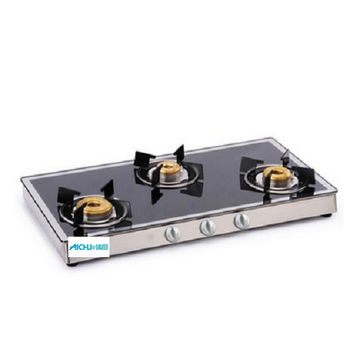 3 Burner Gas Stove Mirror Finish