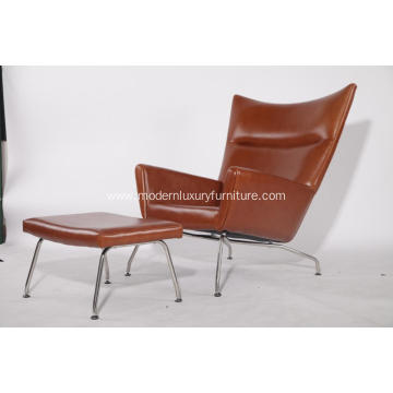 Hans J. Wegner CH445 Wing Chair and Ottoman