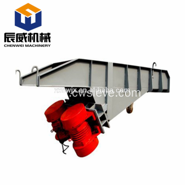 Steel vibrating stone feeder