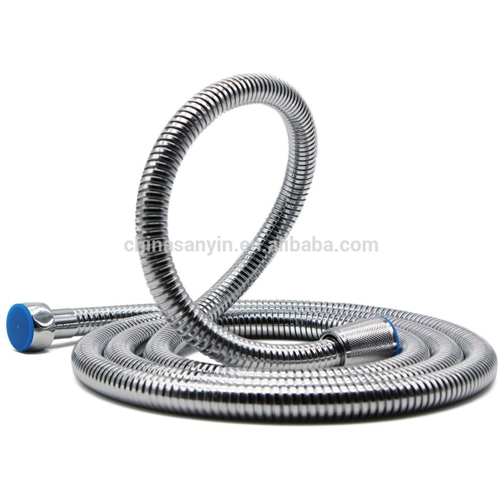 Stainless steel chrome shower spray hose