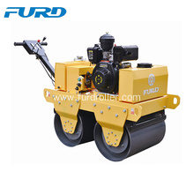 Best Price for for Walk-Behind Double Drum Roller,Manual Roller Compactor,Walk Behind Roller Manufacturer in China 550Kg Double Drum Hand Asphalt Roller Compactor supply to Bhutan Factories