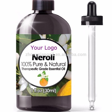 OEM Custom label and packaging box neroli oil