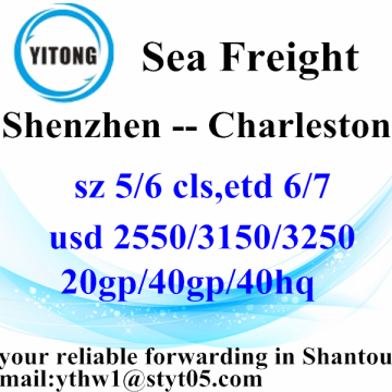 Shenzhen International Sea Freight Shipping services to Charleston