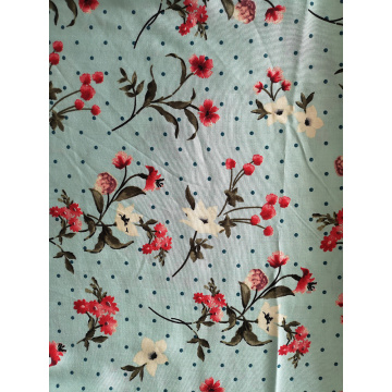 Dots Flower Rayon Challis 30S Light Printing Fabric