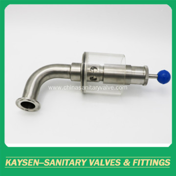 Sanitary stainless steel exhaust air release valves