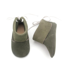 Wholesale Glory Cute Handmade Green Ankle Infant Boots
