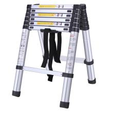 Double side aluminum telescopic step ladder