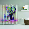 Elephant Waterproof Shower Curtain Painting Polyester Bathroom Decor