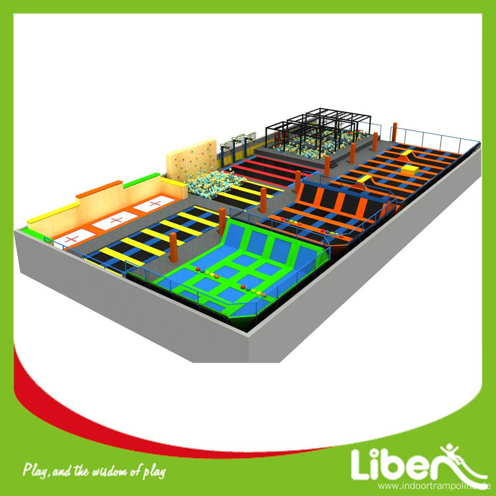 indoor kids large jumping trampoline park