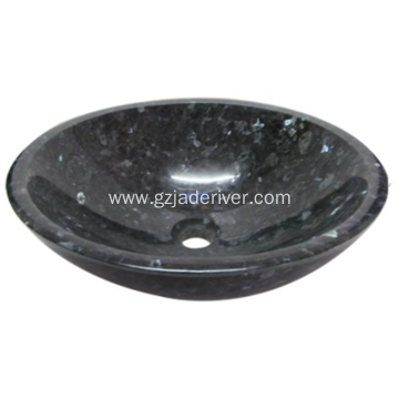 Black Granite Stone Sink for Bathroom