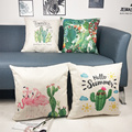 Set of Tropical Throw Pillow Covers Cactus Flamingo Lizard Summer Decorative Cushion Cover Pillow Case for Sofa Bedroom Car Couc