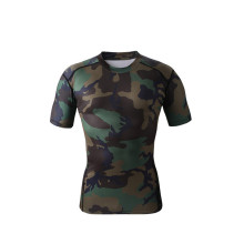 China Manufacturers for Compressed Short Sleeve Shirt Custom sublimation camouflage compression durable shirt export to St. Pierre and Miquelon Factories