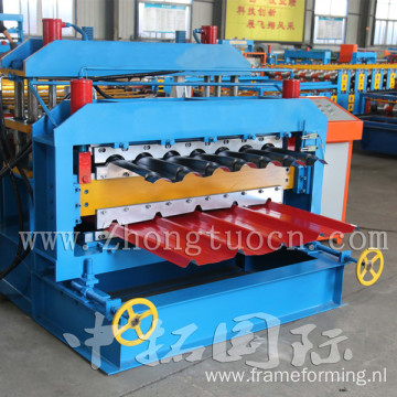 Colored Steel Gal Trapezoidal Roof Tile Making Machine