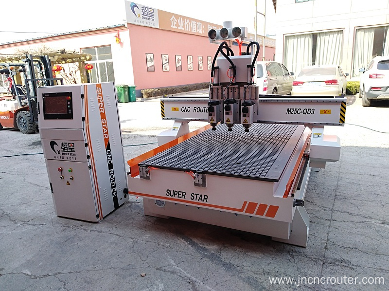 1325 woodworking machine four head cnc router engraver