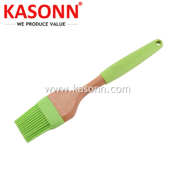 Premiun Silicone Kitchen Cooking Brush dengan Gagang Kayu