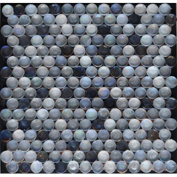 Round Single Chip Shiny Glass Mosaic