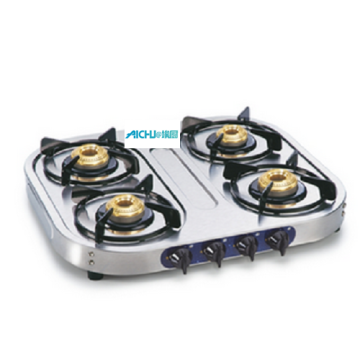 SS Gas Stove 4 Brass Burners