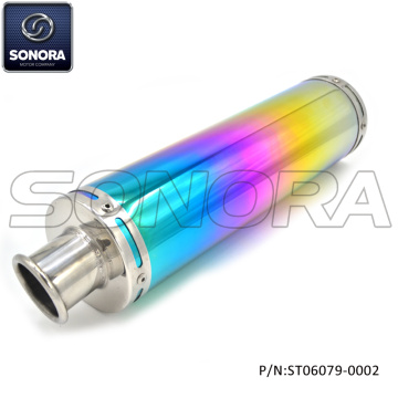 GY6-50,125 Colorfual Performance Exhaust down pipe (P/N:ST06079-0002) Top Quality